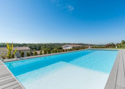 piscine avec vue sur toulouse