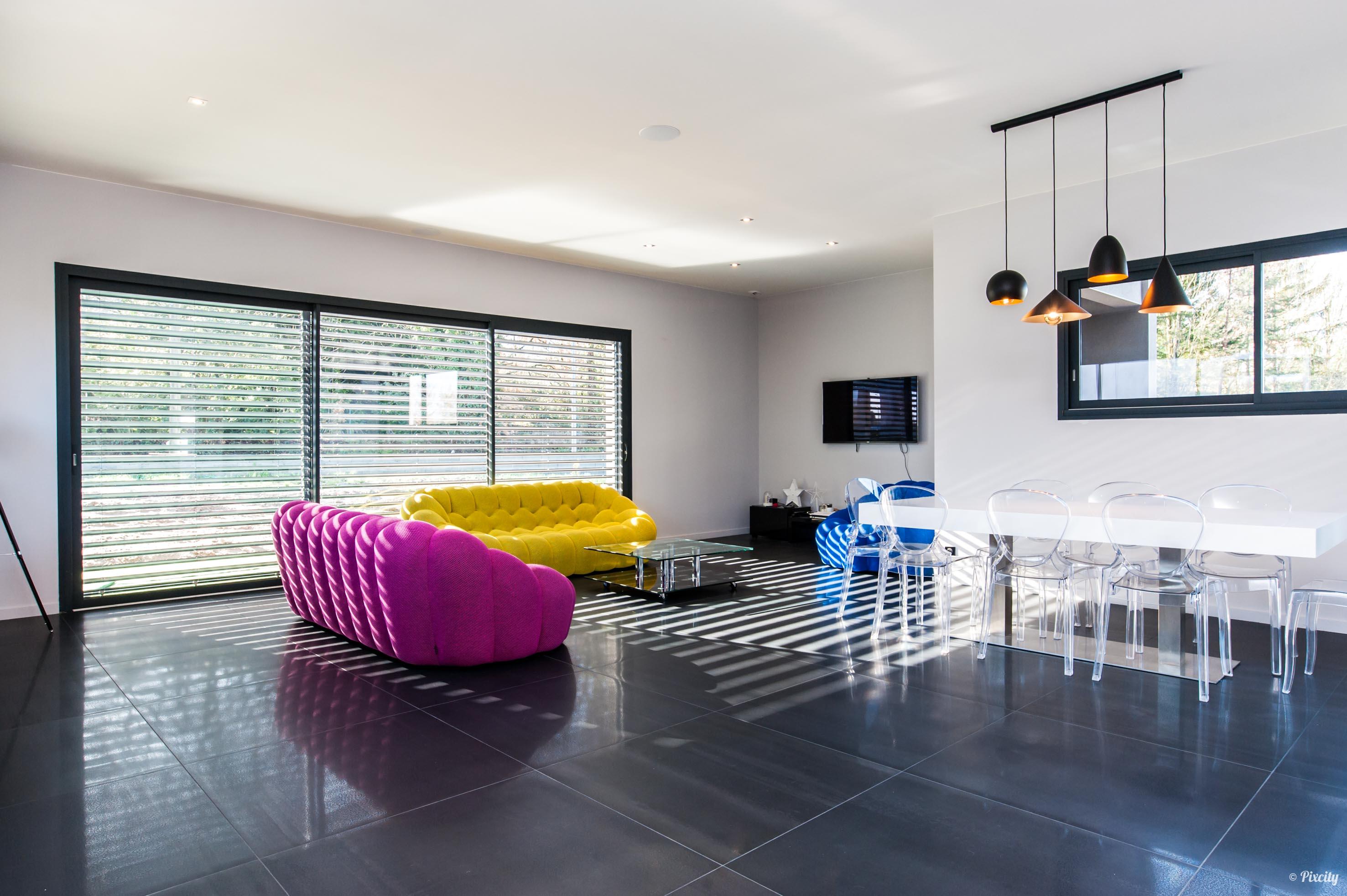 Visite déco maison d\'architecte Lauzerville - Pixcity